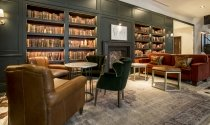 Library space at Clayton hotel Cambridge
